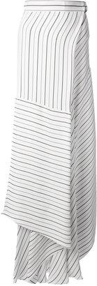 Chloé asymmetric striped skirt