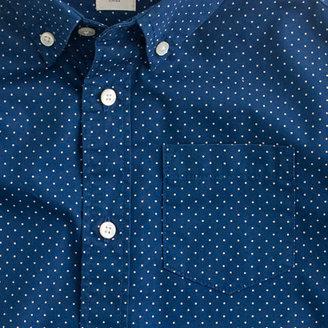 J.Crew Boys' pindot poplin shirt