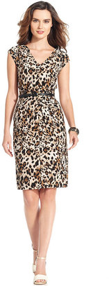 Jones New York Dress Jones New York Dress, Cap-Sleeve Animal-Print