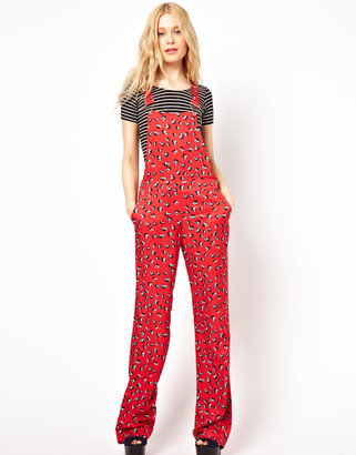 River Island Floral Overalls