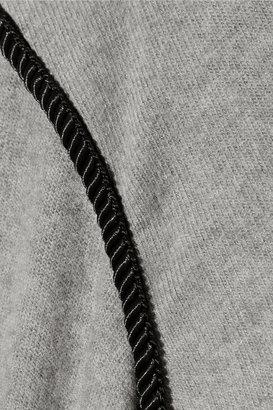 LnA Kimbra cutout stretch modal-blend sweater