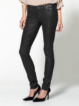 Paige Heavy Coating Eve Zip Skinny Jeans