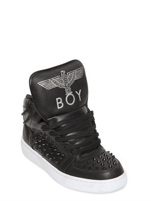 Boy London Spiked Leather Eagle Boy Print
