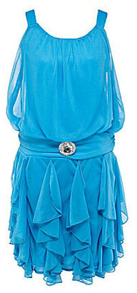 Ruby Rox 7-16 Blouson Corkscrew Dress