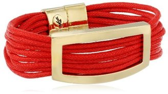 "Kenneth Cole New York ""Beaded Bracelets"" Rectangle Red Multi-Row Bracelet"