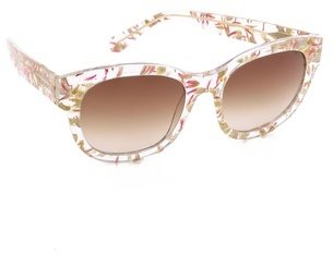 Cat Eye Heidi London Flower Petal Embedded Sunglasses