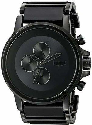 Vestal Men's PLA017 Plexi Minimalist Black Acetate Black Watch