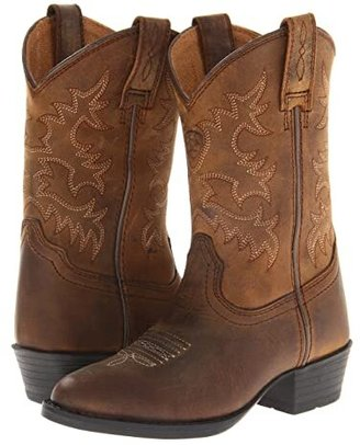 Ariat Heritage Western (Toddler/Little Kid/Big Kid) (Distressed Brown) Cowboy Boots