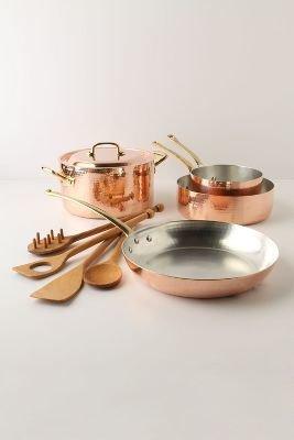 Anthropologie Ruffoni Copper Cookware Set