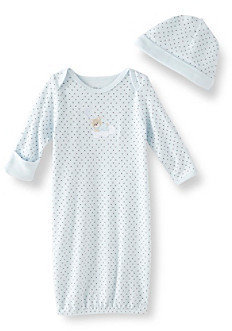 Little Me Baby Boys' Sleepy Bear Gown - Blue
