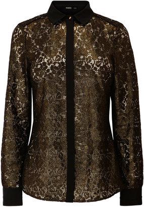 Oasis Metallic Lace Shirt