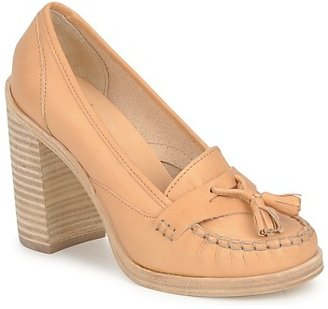 Swedish Hasbeens TASSEL LOAFER women's Heels in Beige