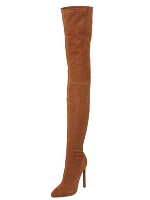 Emilio Pucci 130mm Thigh High Stretch Suede Boots