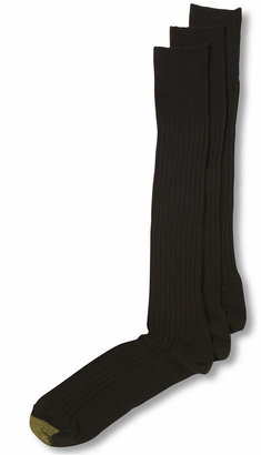 Gold Toe Adc Canterbury Over the Calf 3 Pack Crew Dress Men Socks