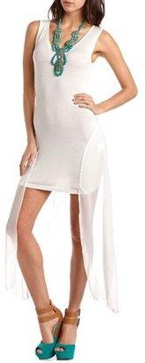 Charlotte Russe Chiffon Panel Body-Con Dress