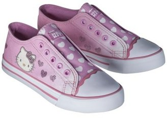 Hello Kitty Girl's Canvas Sneaker - Pink
