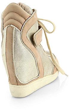 Ash Brendy Glitter Wedge Sneakers