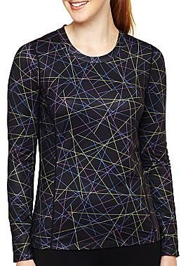 JCPenney XersionTM Long-Sleeve Crew-Neck Top