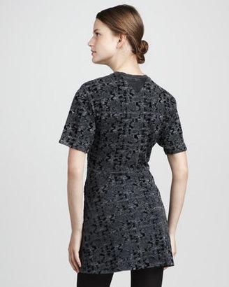 Theyskens' Theory Patterned Velvet Dress