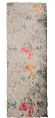 Lily & Lionel Mottled bird print scarf