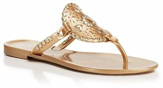 Jack Rogers Flat Jelly Thong Sandals - Georgica