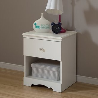 South Shore Crystal 1 Drawer Nightstand South Shore