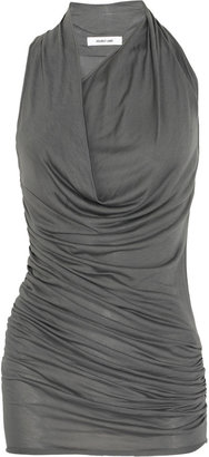 Helmut Lang Ruched and draped jersey dress
