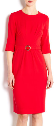 Goat Red Scarlett High Neck Belted Dress