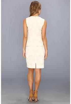 BCBGMAXAZRIA Etna Lace Peplum Sheath Dress