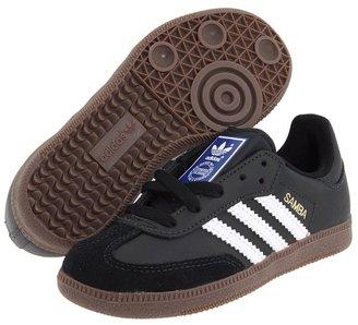 adidas Kids - Samba Leather (Little Kid/Big Kid) (Black/White/Gum 2) - Footwear