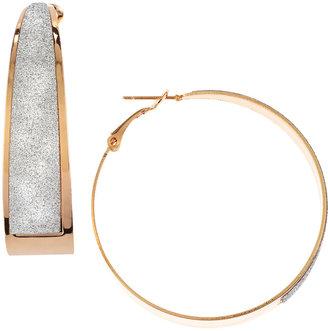 Greenbeads Sparkle-Inset Hoop Earrings, Gold