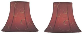 Red scroll candelabra shade sets