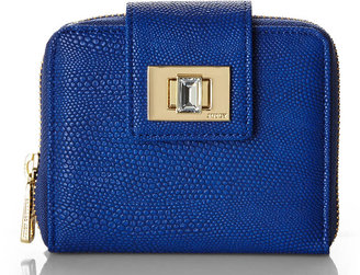 Juicy Couture Blue Zip SFP Wallet
