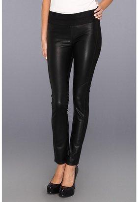 Paige Paloma Paneled Legging Ponte Vegan Leather in Black (Black) - Apparel