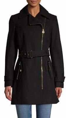 MICHAEL Michael Kors Asymmetric Walker Coat