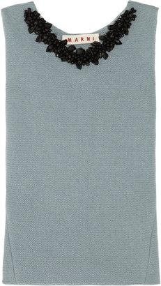 Marni Embellished wool top