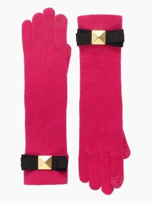 Kate Spade Stud bow knit long glove
