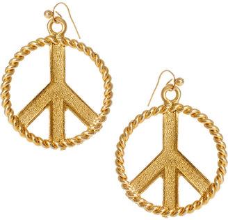 Susan Caplan Vintage Exclusive For ASOS Vintage 90s Peace Earrings