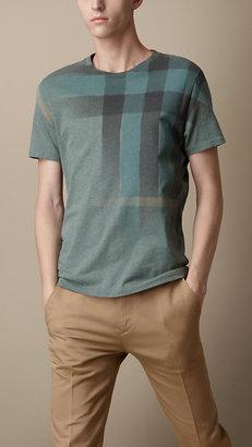 Burberry Faded Check Print T-Shirt