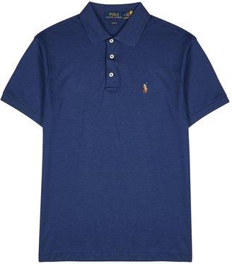 Polo Ralph Lauren Blue Pima Cotton Polo Shirt