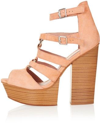 Topshop LUCY Split Wedge Sandals