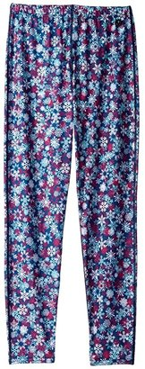 Hot Chillys Kids Midweight Print Bottom (Little Kids/Big Kids) (Snowflakes) Girl's Clothing