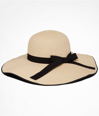 Express Bow Trimmed Woven Floppy Hat