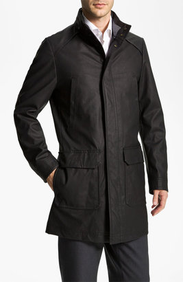 Boss Black 'Patron' Waxed Trench Coat