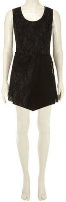 Dorothy Perkins Black lace punk style dress