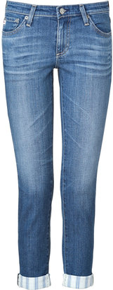 Adriano Goldschmied Blue Washed The Stilt Roll-Up Jeans