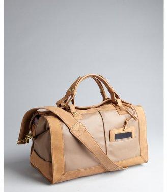 Kooba tan and taupe leather 'Jackson' satchel