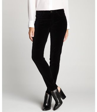 J Brand black stretch velvet 'Super Skinny' jeans