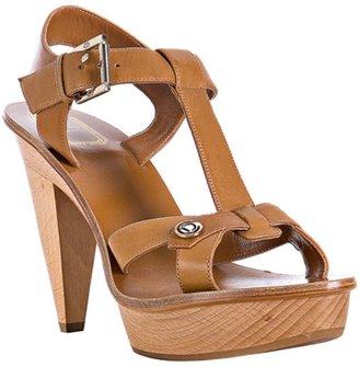 Christian Dior black calfskin 'Initiales' t-strap platform heels
