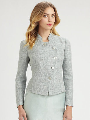Armani Collezioni Asymmetrical Button Jacket